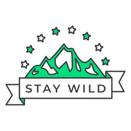 Stay wild badge stroke