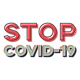 Stop covid 19 lettering
