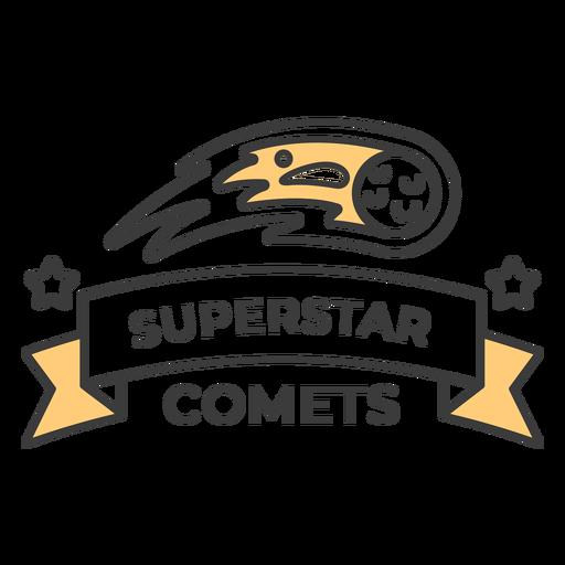 Golpe de insignia de cometas superestrella Transparent PNG
