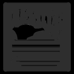 Tissues bathroom label black