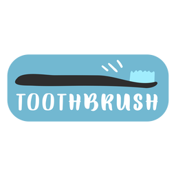Toothbrush bathroom label flat