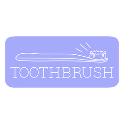 Línea de etiquetas de baño de cepillo de dientes