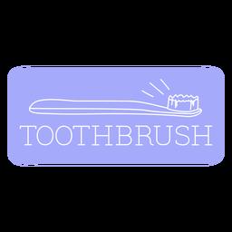 Toothbrush bathroom label line
