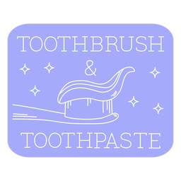 Toothbrush and toothpaste bathroom label line