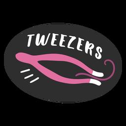 Tweezers bathroom label flat