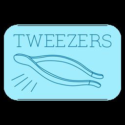 Tweezers bathroom label line