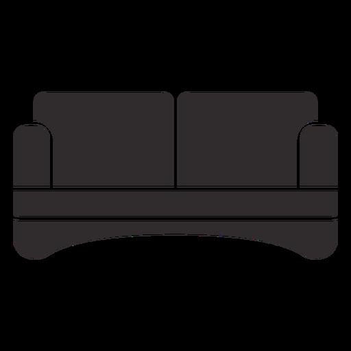 Sofá de dos plazas negro Transparent PNG