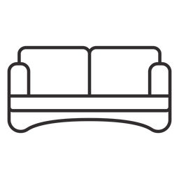 Trazo de sofá de dos plazas