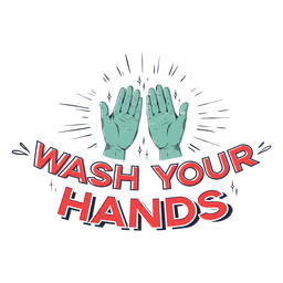 Lávate las manos letras