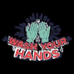 Lave as mãos letras