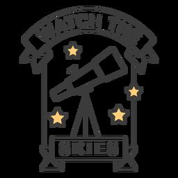 Watch the skies badge stroke