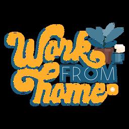 Letras de trabalho em casa