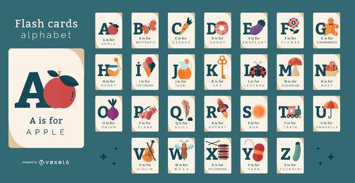 Paquete de tarjetas de vocabulario de elementos misceláneos