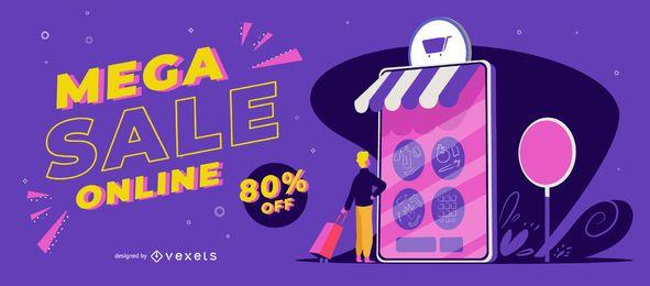 Mega Sale Online Slider Vorlage