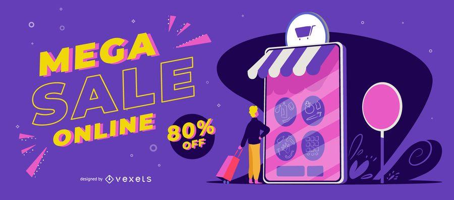 Mega sale online slider template