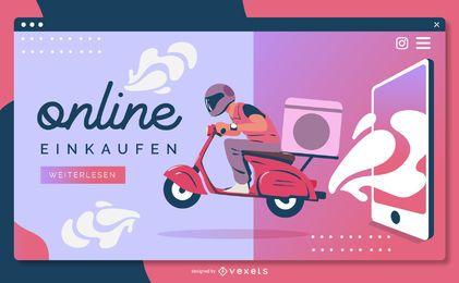 Plantilla de página de aterrizaje de einkaufen en línea