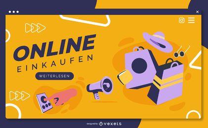 Página de destino alemão para compras online
