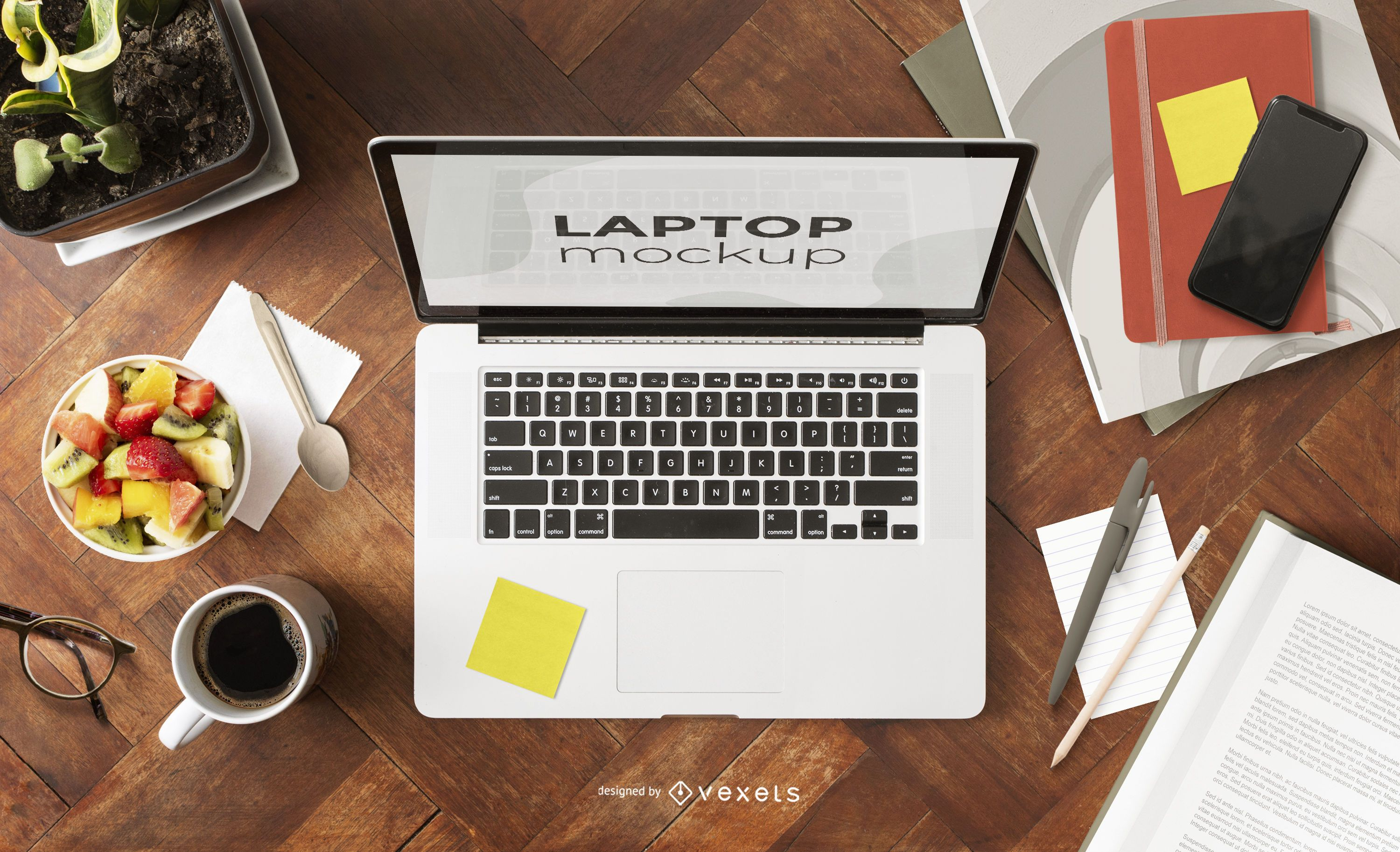 Work From Home Laptop Mockup