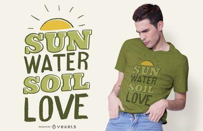 Design de camisetas com citações de jardinagem