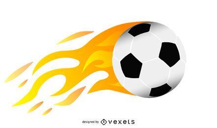 Bola llamas vector
