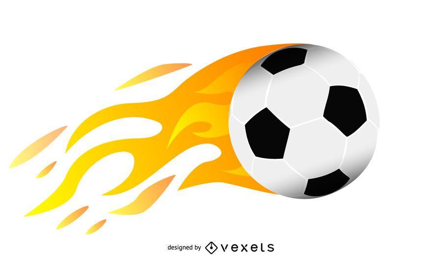 Ball Flames Vector