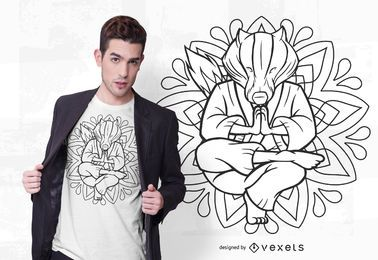 Diseño de camiseta Badger mandala