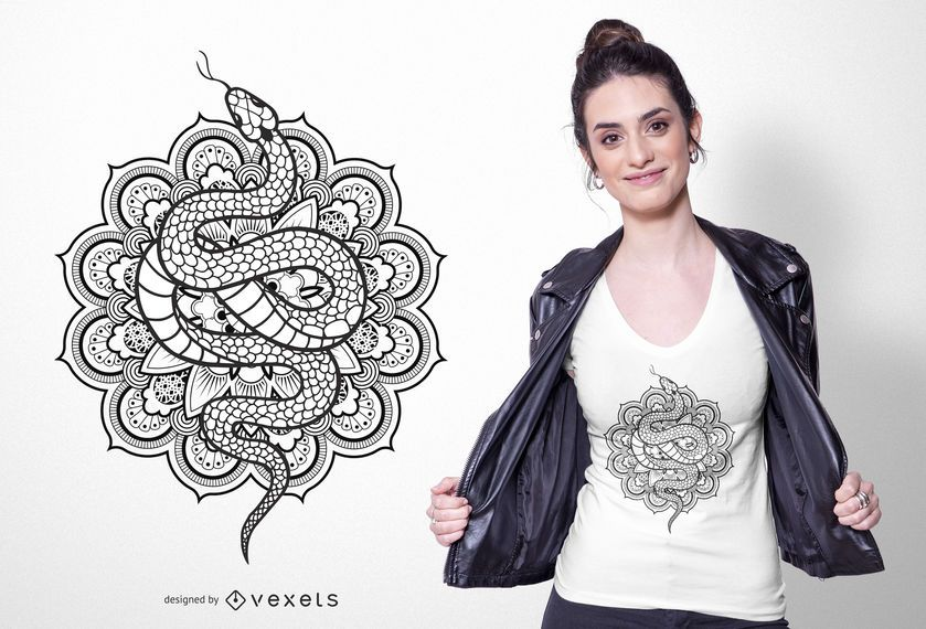 Snake mandala t-shirt design