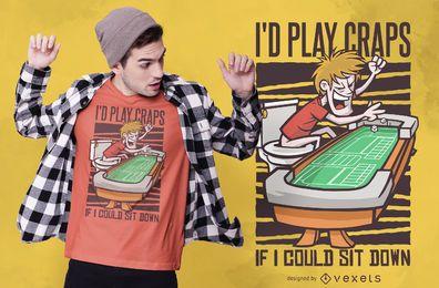 Diseño de camiseta divertida de WC Craps