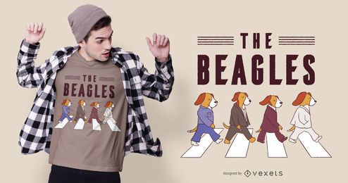Design de camisetas para cachorro The Beagles