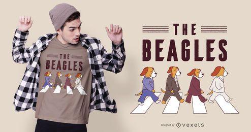 El diseño de la camiseta del perro Beagles