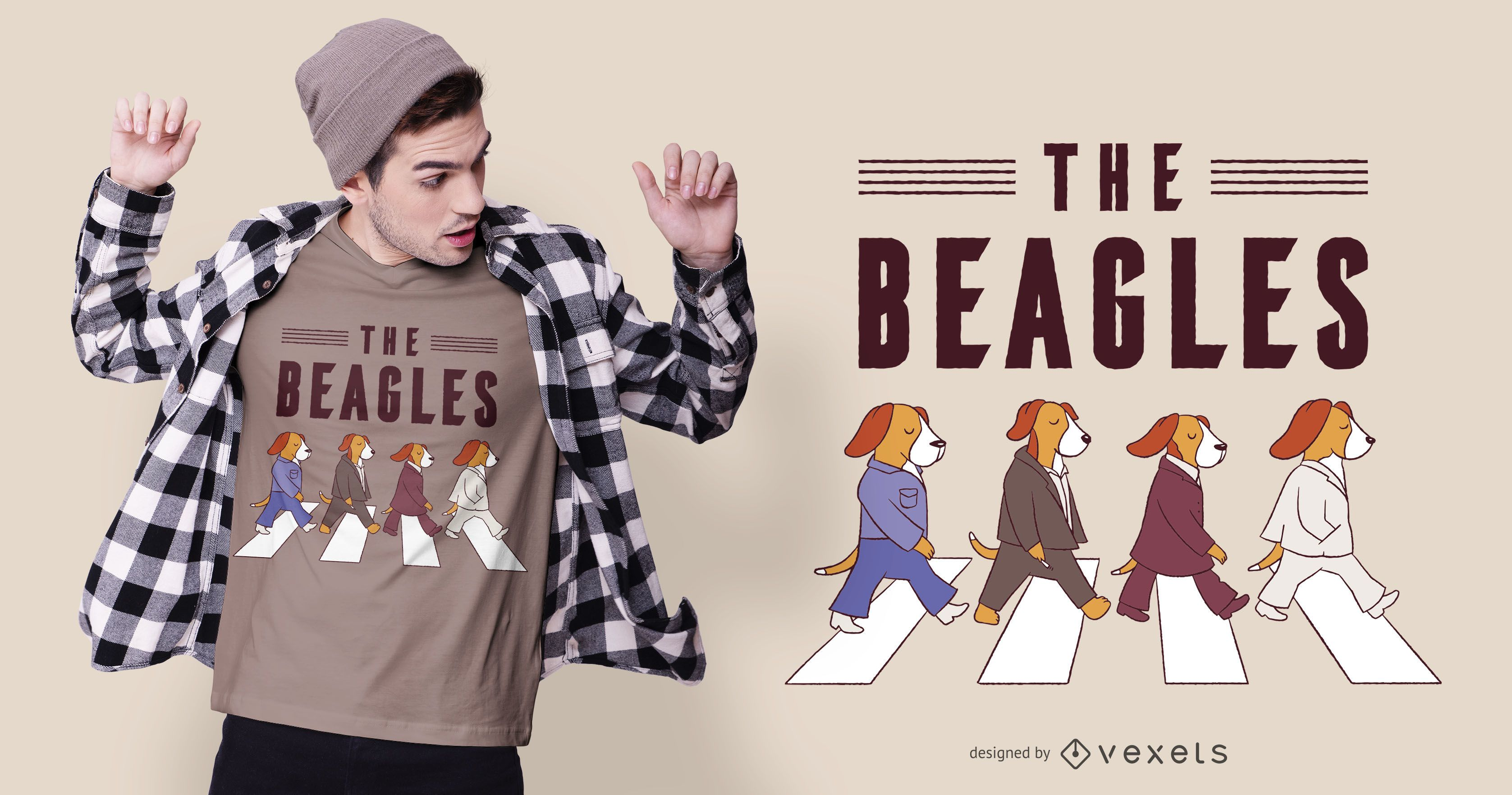 The Beagles Dog T-shirt Design