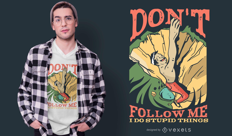 Diseño de camiseta Rock Climber Quote