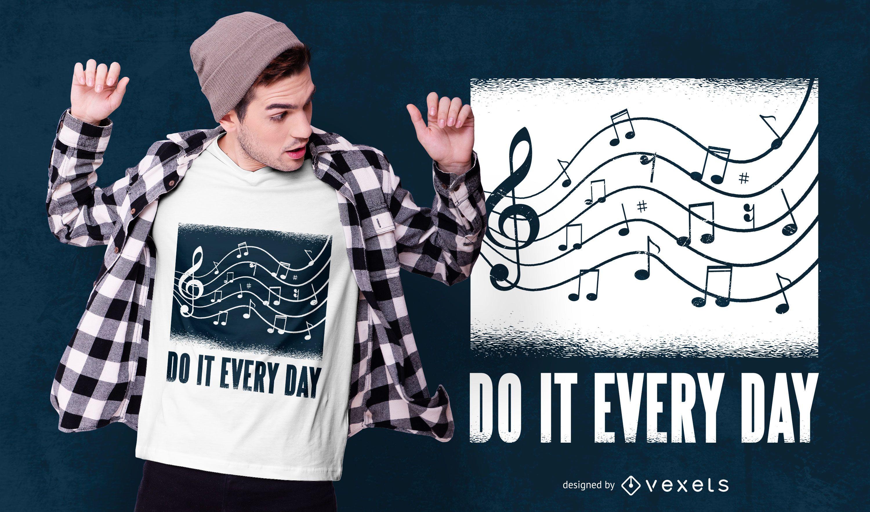 Music Text T-shirt Design