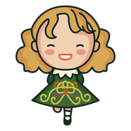 Vestido estampado irlandés lindo