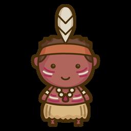 Niño aborigen lindo