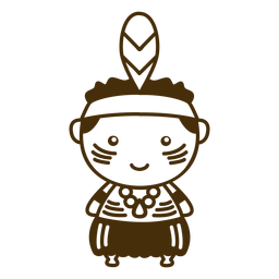 Niño aborigen lindo trazo