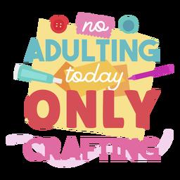 Letras de artesanato adulto