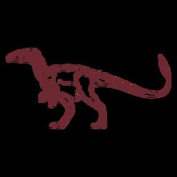 Allosaurus dinosaur drawn