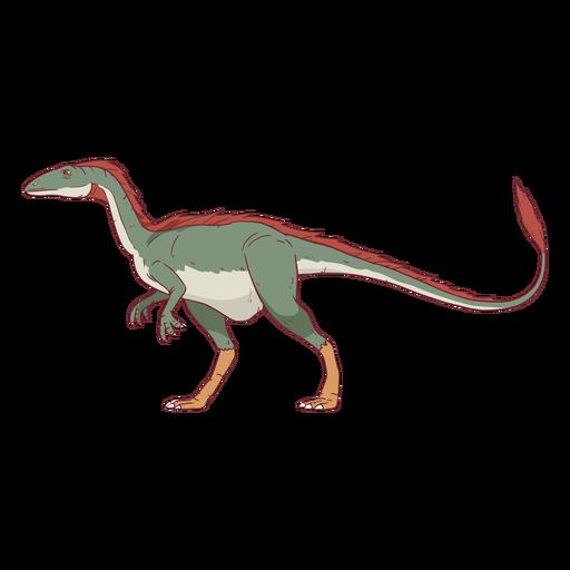 Ilustración de dinosaurio Allosaurus