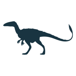 Silueta de dinosaurio Allosaurus
