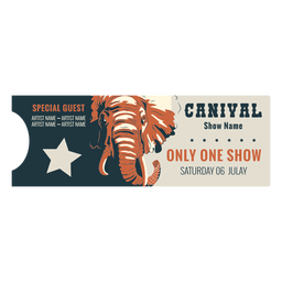 Animal circus ticket