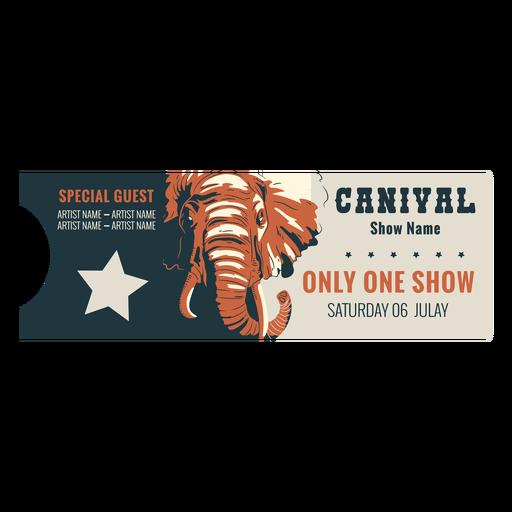 Animal circus ticket
