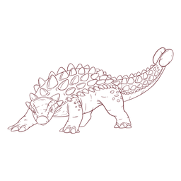 Ankylosaurus dinosaur drawn