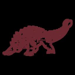 Dinosaurio Ankylosaurus dibujado