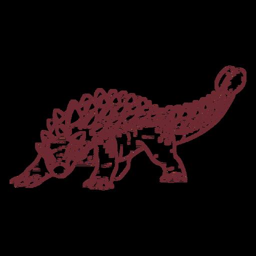 Dinossauro anquilossauro desenhado