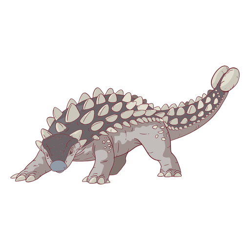 Ilustração do dinossauro anquilossauro