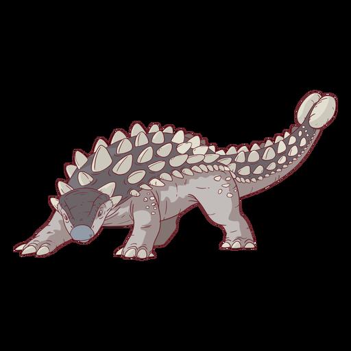 Ilustración de dinosaurio Ankylosaurus