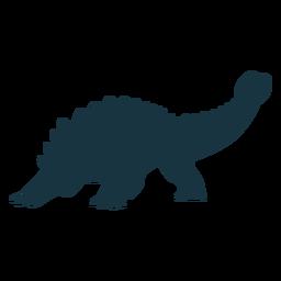 Ankylosaurus dinosaur silhouette