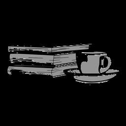 Incrível combinação de livro de café