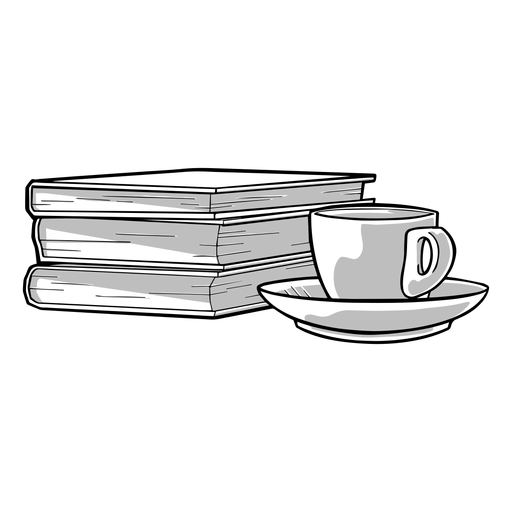 Excelente combinação de livro de café